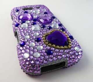 PINK HEARTS DIAMOND HARD COVER CASE SAMSUNG GALAXY S BLAZE 4G TMOBILE