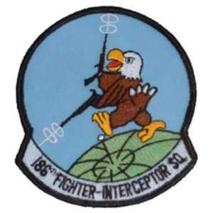 U.S. Air Force 186th Fighter Interceptor Squadron Patch 3