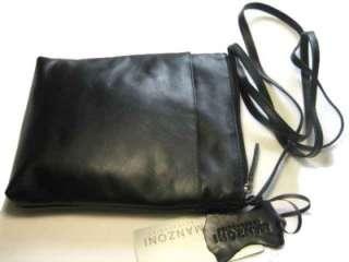 New Manzoni Black Genuine Full Grain Leather Sling Bag