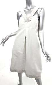 NWT MAX MARA Gorgeous White Cotton Dress Grt Details 14