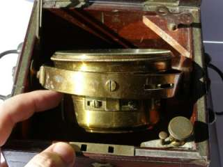 rare antique Dent London marine deck CHRONOMETER c1850s.Power reserve