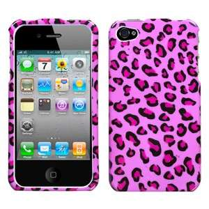 Pink Cheetah Hard Case Phone Cover for Apple iPhone 4