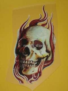 FIRE Iron On Patch Biker Transfer Rocker Motif Applique Emo Punk Decal