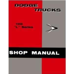 1958 DODGE PICKUP TRUCK Shop Service Manual Book