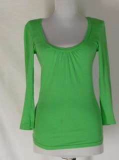 Michael Stars Lime Green Cotton Baby Doll Shirt Top OS
