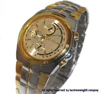 Luxury Gold Stainless Alloy Gents Man Wrist Watch #61