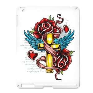 iPad 2 Case White of Roses Cross Hearts And Angel Wings