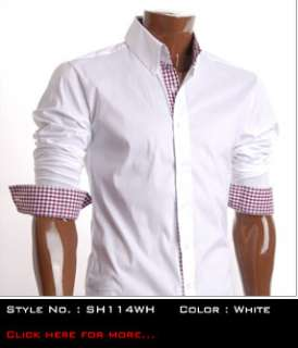 FLATSEVEN MENS SLIM FIT CASUAL DRESS SHIRTS BEST COLLECTION 1