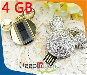 Lovely 4GB Jewelry Mickey Mouse Shape USB 2.0 Flash Memory Stick Drive