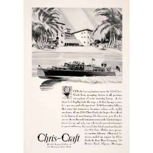 1930 Ad Antique Chris Craft Mahogany Motor Boat Yacht