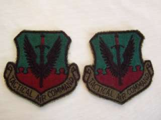 VINT. 2 USAF TACTICAL AIR COMMAND VIETNAM PATCHES (4)