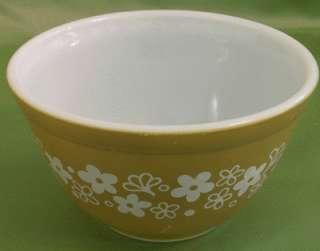 VINTAGE MIXING BOWL Crazy Daisy SPRING BLOSSOM GREEN sm