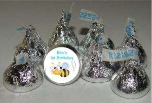 108 BUMBLEE BEE Bugs Candy Wrappers Kiss Labels Favors