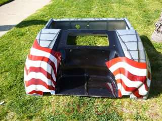 GOLF CART CUSTOM AMERICAN FLAG PIN UP GIRL Front Rear Body COWL