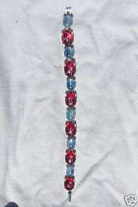 LINDE LINDY STAR RUBY CREATED SAPPHIRE STAR BRACELET