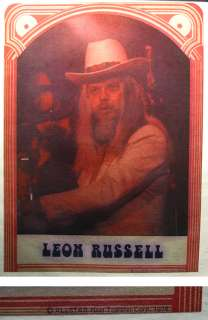 Leon Russell vTg Orig T shirt iron on transfer 76 Byrds