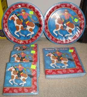 Cowboy Roundup Horse Party/Birthday NEW Napkins Plates