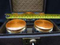 Art Deco Guilloche enamelled Dressing Table Set