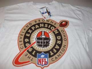 Vtg Cleveland Browns NFL T shirt Large NEW TAGS