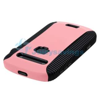 Black Pink Hard Hybrid Case+Charger+Privacy LCD For BlackBerry Bold