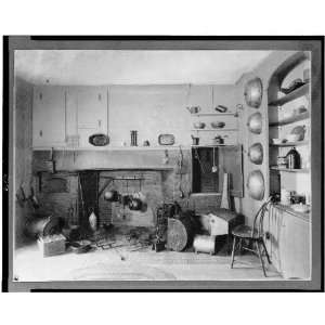 Colonial era fireplace,kitchen,interiors