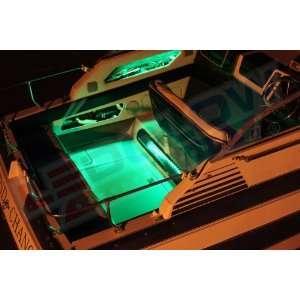4pc Green LED Boat Deck & Cabin Lighting Kit:  Sports