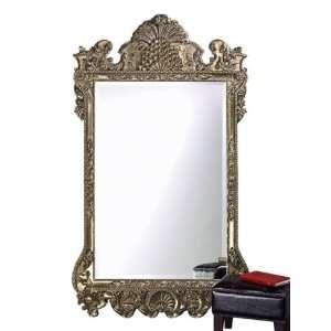 Antique Rectangular Silver Leaf Leaner Mirror