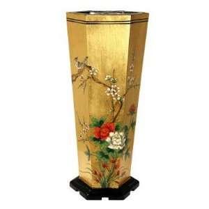 Oriental Furniture LCQ UMB GPB Umbrella Stand in Gold Leaf