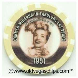 Carmen Miranda in Fabulous Las Vegas Casino Chip