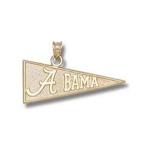 Alabama Crimson Tide 1/2 A Bama Pennant Pendant   14KT