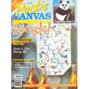 Plastic Canvas World, Recycle, Summer Dazzlers July 1997