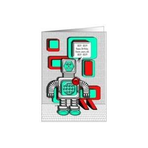 Happy Birthday Robot 11 Years Old Card: Toys & Games