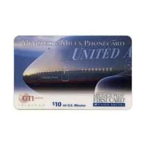 Collectible Phone Card $10. United Airlines Mileage Plus