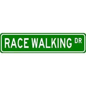 RACE WALKING Street Sign   Sport Sign   High Quality