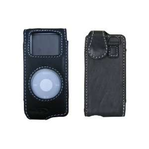Brand New Music.Pro iPod Nano Leather Case Black Lamb high leather