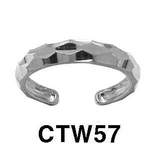 14k Toe Ring (white gold) Jewelry