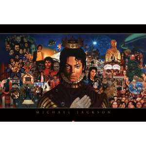 Michael Jackson Collage Thriller Pop Music Poster 24 x 36