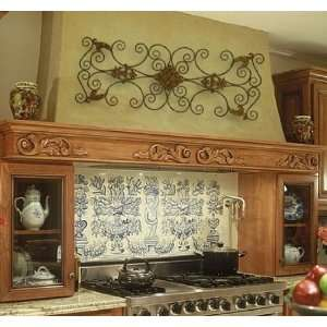 Large IRON SCROLL Wall Plaque Grille Overdoor Metal: Home & Kitchen