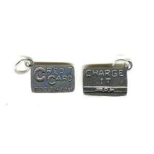 .925 Sterling Silver Credit Card Charm or Pendant