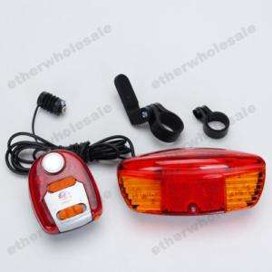 Bicycle Bike Turn Signal Brake LED Light +8 Tune Horn