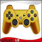 Gold Six Axis Wireless Bluetooth Controller for PS3 One Year Warranty