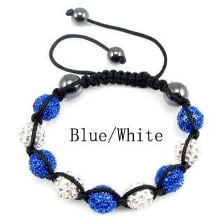 Disco Ball(9pcs) Crystal Bracelet +Gift Box (Mix Lots Colours)
