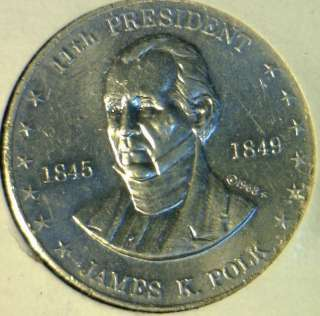 Commemorative Mr. President Shell Game Medal   Token   Coin