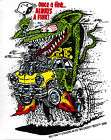 Green Rat Fink Sticker Decal Ed Roth RF17 Regular items in