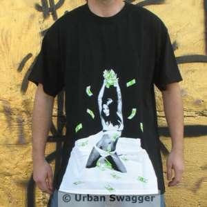 NEW Mens MAKE IT RAIN shirt money t shirt BLACK nwt 2X