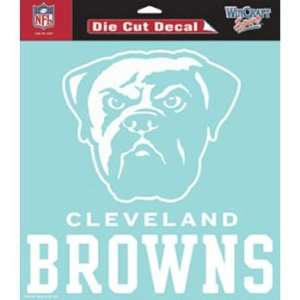 Cleveland Browns Die Cut Decal   White