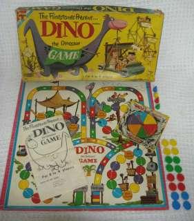 Vintage 1961 DINO THE DINOSAUR Board Game Flintstones Hanna Barbera