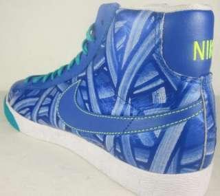 NIKE BLAZER HIGH Womens Blue Shoes Sneakers Size 9