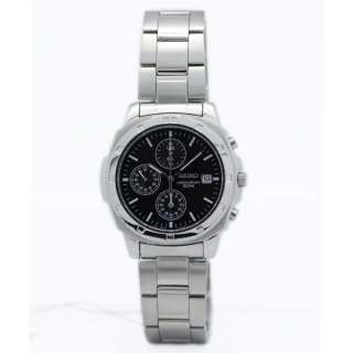 Seiko MEN 50M Chronograph Black Dial Watch SNDB35