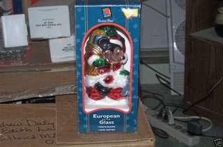 1998 DISNEY MICKEY MOUSE EUROPEAN STYLE GLASS ORNAMENT